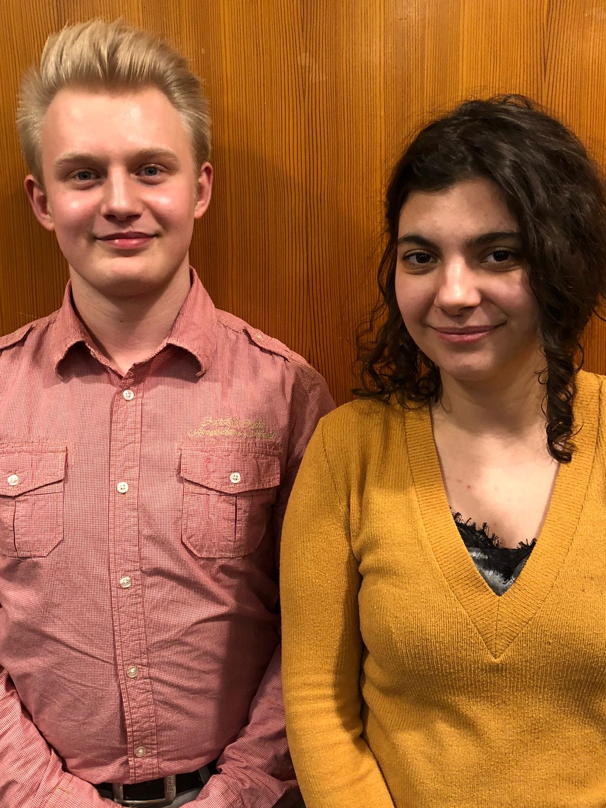 Ruben Wippermann und Constance Schwarzmann - Vorstand des BDKJ Stadtverbandes Neuss